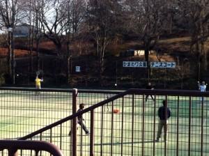 園内にあるテニスコート