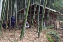 竹林の作業場