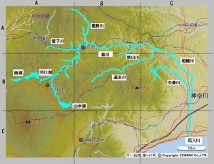 相模川の流れ
