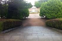 園内の噴水広場